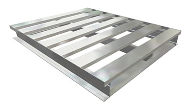 2-Way Channel Open Bottom Aluminum Pallet