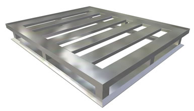 4 Way block Aluminum Pallet